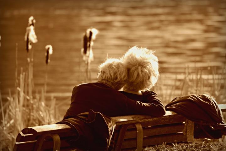 echtpaar liefde klein